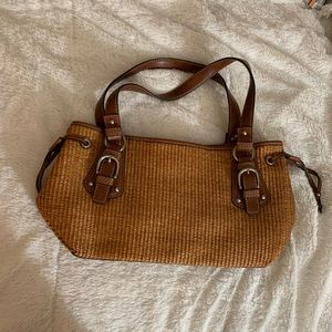 Fossil Straw Purse Brown Messenger Bag